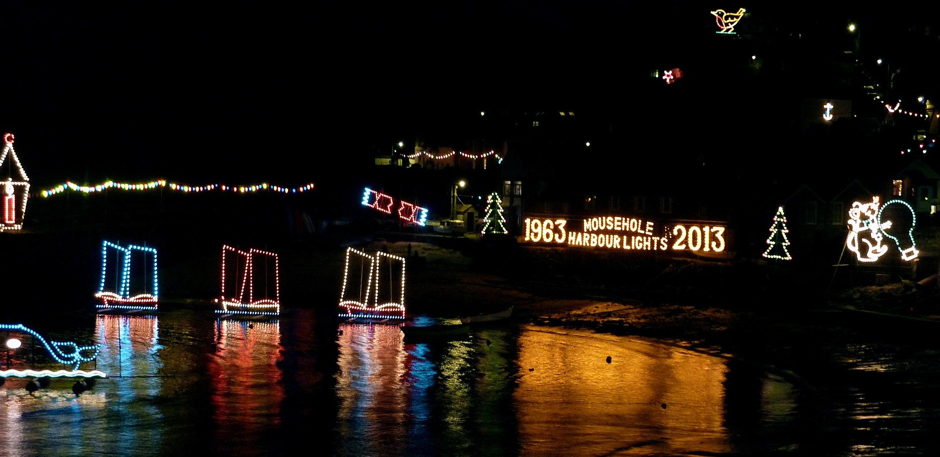 Christmas in Cornwall Mousehole Harbour Lights